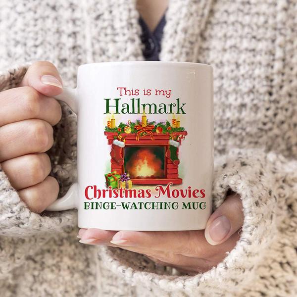 Weihnachten-Keramik-Becher 350ml 14 Styles Stempel Brief gedruckt Weihnachten Filme Coffee Kids Cups LJJO7356