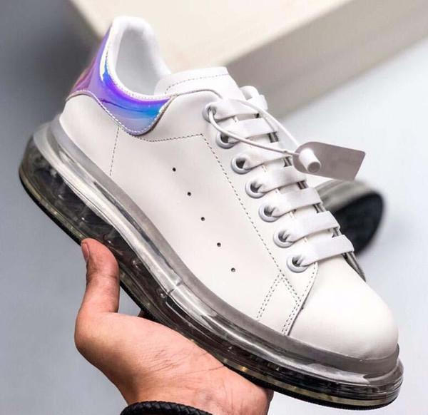 Nueva calidad 20ss marca de diseñador Cojín al vacío Zapatos casuales zapatillas de deporte de gran tamaño suela de goma zapatillas Suede Brand Platform Leather Casual 11