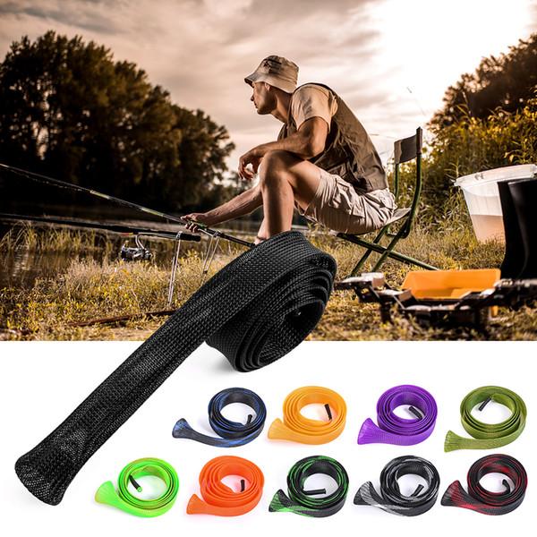 10 paquete de 170 cm de caña de pescar cubierta de la manga de la caña calcetín polo guantes protector herramientas