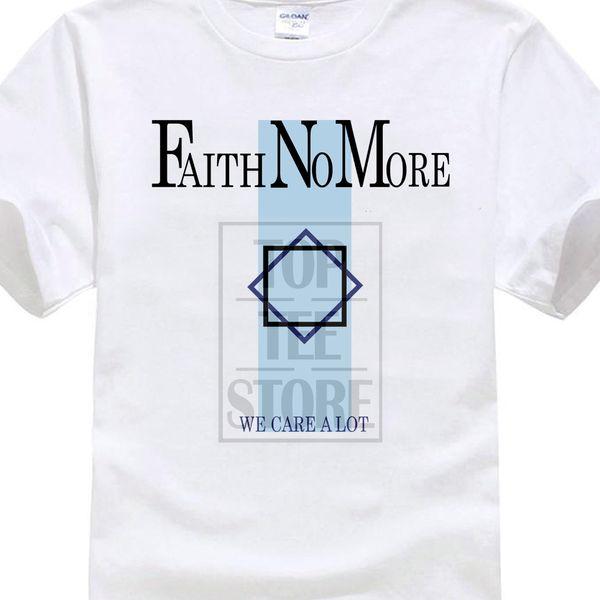 2017 Men's Faith No More We Care A Lot T Shirt Rock Mike Patton Mr.bungle Fantomas Printed T Shirt Fashion Hipster Tees