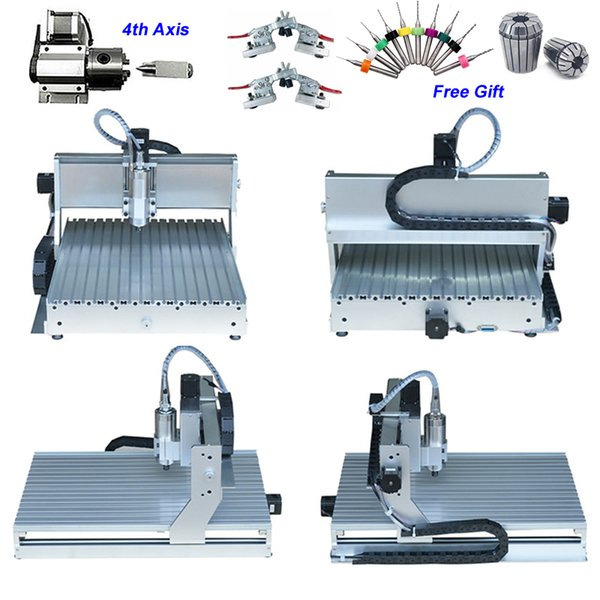 4 axis usb 800w china cnc router 6040 pcb aluminum metal wood engraving milling machine