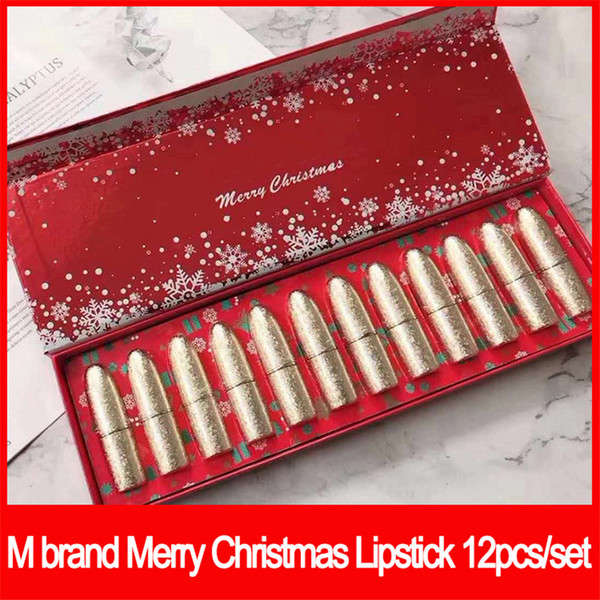 2019 New M Lips Makeup Famous Brand Snowball Limited Edition Holiday  Lipstick Merry Christmas Matte Lipstick Eyeshadow Free Makeup Samples From