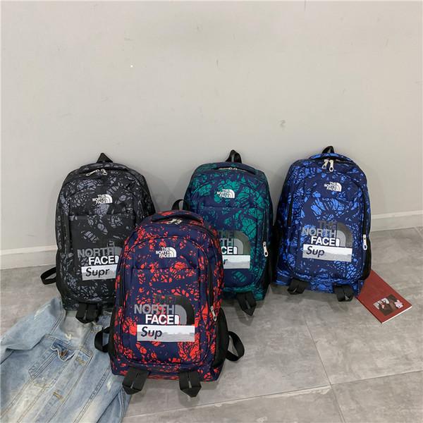 4 colores Sup Mochila de diseño de lujo The North Handbags Totes Face Unisex Boys Girls School Bag Supre Luxury Camo Shoulder Bags Hot B80701