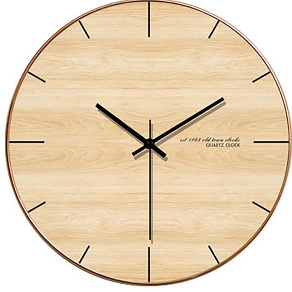 Большие Деревянные Круглые Современные Настенные Часы Творческие Уникальные Настенные Часы Украшения Цифровые Часы Украшения Гостиной Wanduhren