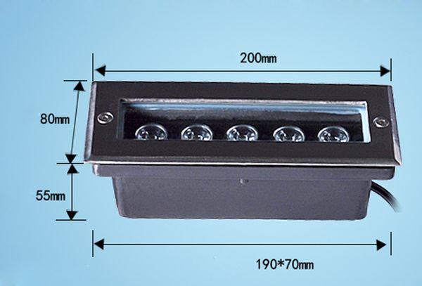(3pcs / lot) L200 * W80 * H60MM Rectángulo 4 * 1W Led de luz subterránea Led de luz de jardín IP67 AC100V-240V Luz de escalera al aire libre Terraza