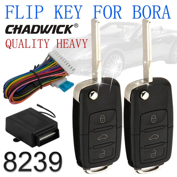 New hot CHADWICK 8239 virar chave sistema de entrada sem chave para Bora vw controle remoto central fechadura da porta de bloqueio de carro de alta qualidade
