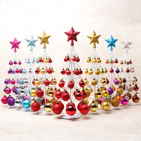 Christmas Tree Decoration Ball Mini Christmas Tree Balls Pendant Xmas Cristmas Kerstballen Gold Silver Ornaments