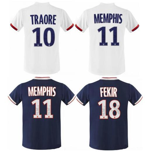 2019/2020 Olympique Lyonnais LYON MEMPHIS FEKIR MAILLOT DE FOOT camisetas thailand quality soccer jersey football shirt kit camiseta futbol