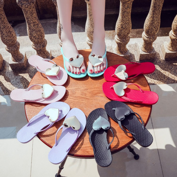 2019 summer wave love flip flops flat sandals and slippers beach shoes