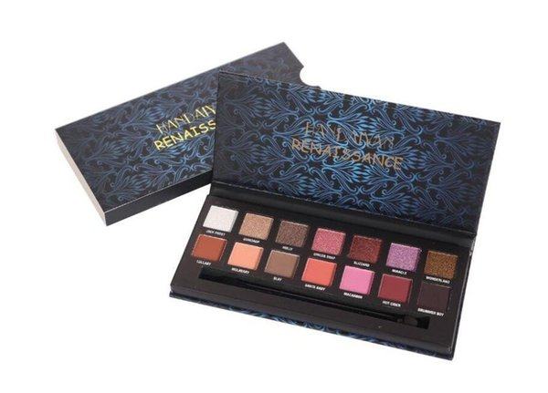 New HANDAIYAN Eye Shadow 14 Colors Waterproof and Lasting Cosmetics Matte Shimmer Eyeshadow Powder Glitter Eyeshadow Palette