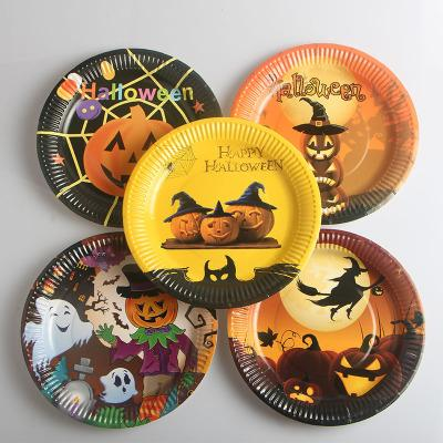 Dinner Plate Christmas Party di Halloween Merce Festival partito di carta usa e getta stoviglie e piatti EEA580 Dinner Plate