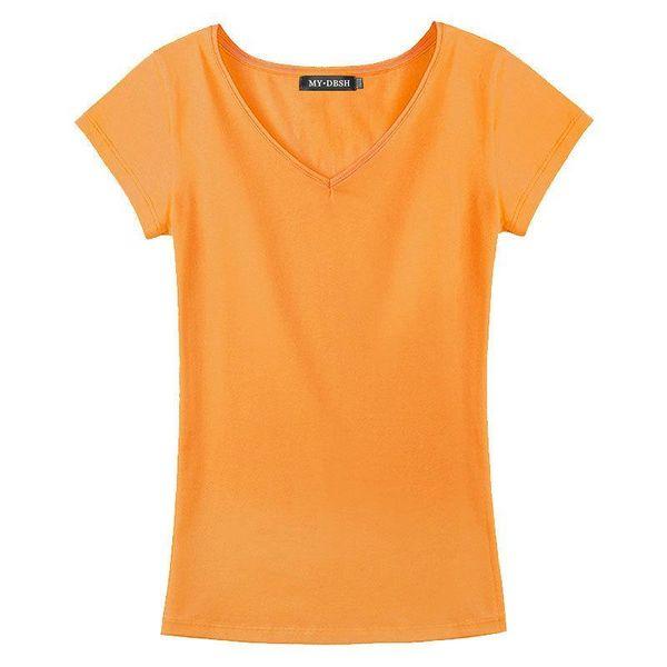 V-Ausschnitt Orange