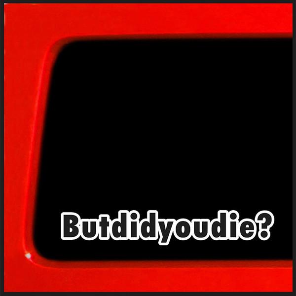 20 * 3.3cm Mas você morreu? Adesivo Decalque Adesivo Conexão Truck Car Drift JDM Personalidade Engraçado Adesivos