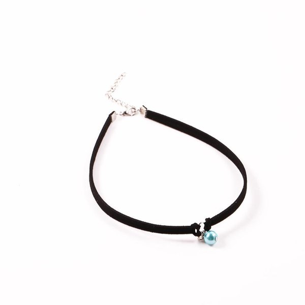 9c7fc3d34842 Compre Collar Colgante De Cuero Mujer Gargantilla Artificial Casual Perla  Sintética Ajustable A $33.4 Del Tenni | DHgate.Com