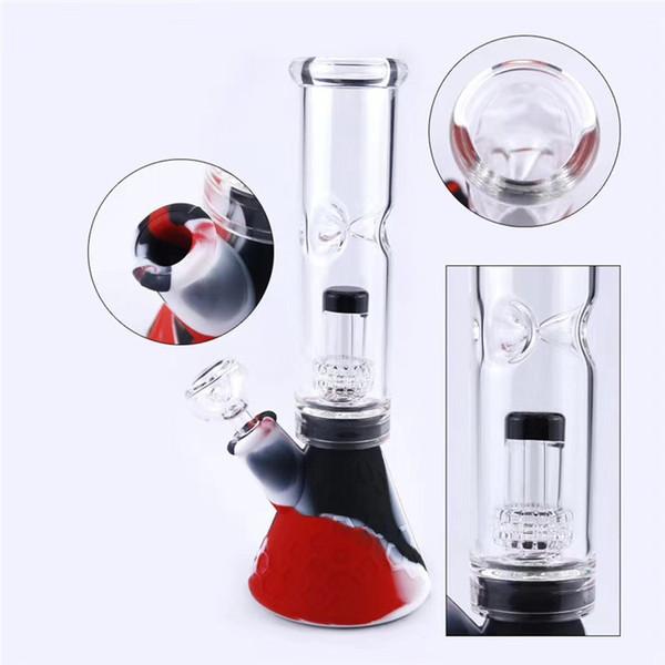 10.2 inç renkli serin silikon cam boşaltma petek lastik filtre emiş yağ kulesi süper kalın 14.4 yanma kase