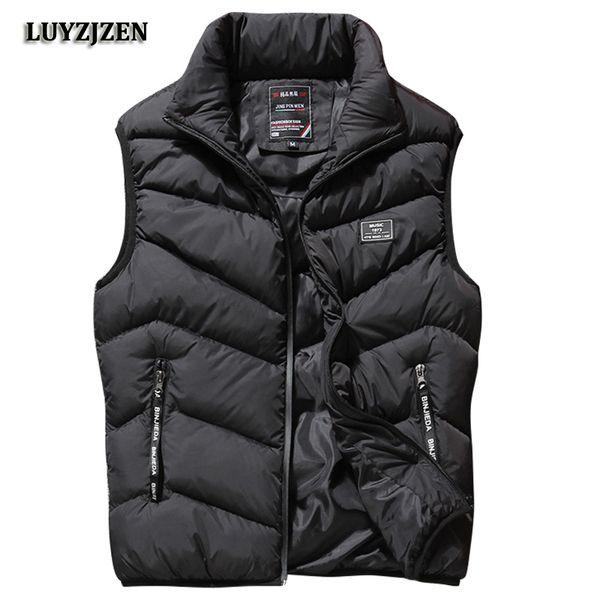 L-8XL Sleeveless Vest Men Spring Autumn New Fashion Casual Coats Male Cotton-Padded Men's Vest Male Jacket Thicken Waistcoat