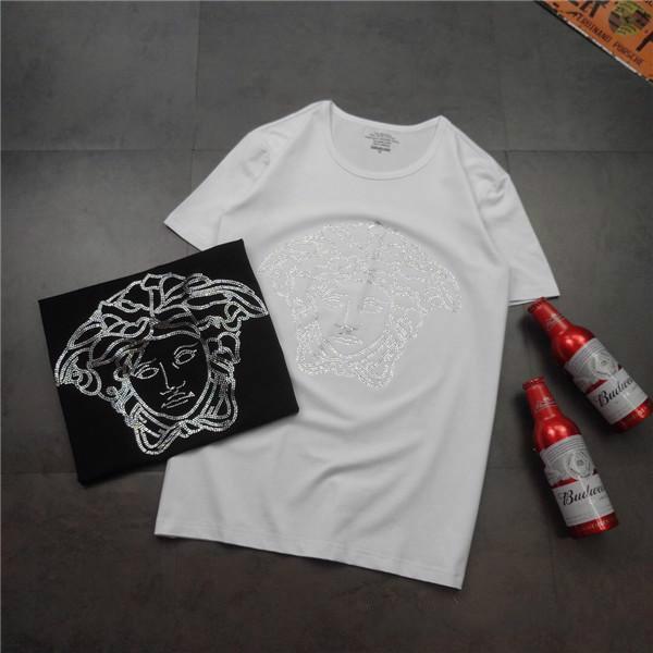 19ss Paris VERS Set Amoureux Coton Tshirts Paris Jeans Medusa Hommes À Manches Courtes D'été Tee Respirant Gilet D'or Chemise En Plein Air T-shirt