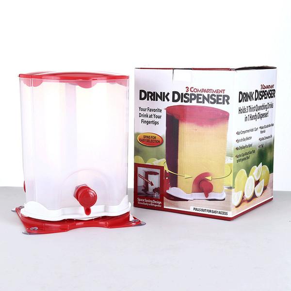 Dispensatore di vino birra Tre macchina di erogatore di succo d'acqua bevanda Bevanda Grid Bere strumenti di casa Bar