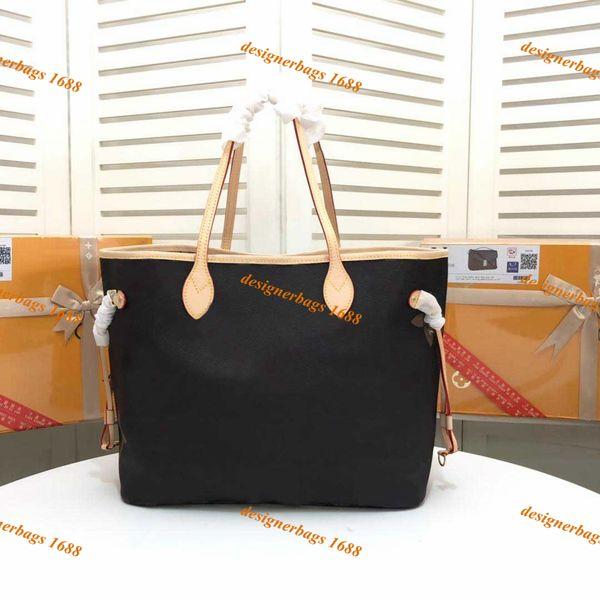 wholesale designer handbags womens handbags naverfull canvas leather clutch shoulder shopping bag female tote purse with wallet 2pcs/set