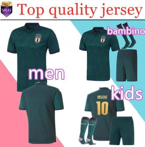 top popular new 2019 20 ITALY European Cup third men soccer Jersey 19 20 CHIELLINI EL SHAARAWY BONUCCI INSIGNE BERNARDESCHI kids FOOTBALL SHIRTS 2019