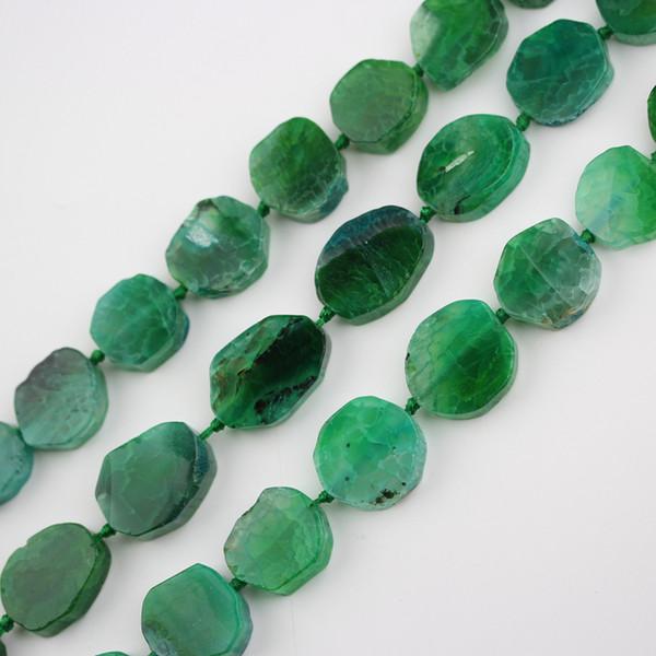Полная нить полированная Dragon Veins Агаты центр просверленные свободные бусины кабошоны, зеленые Агаты природные камни плиты ломтик очарование решений