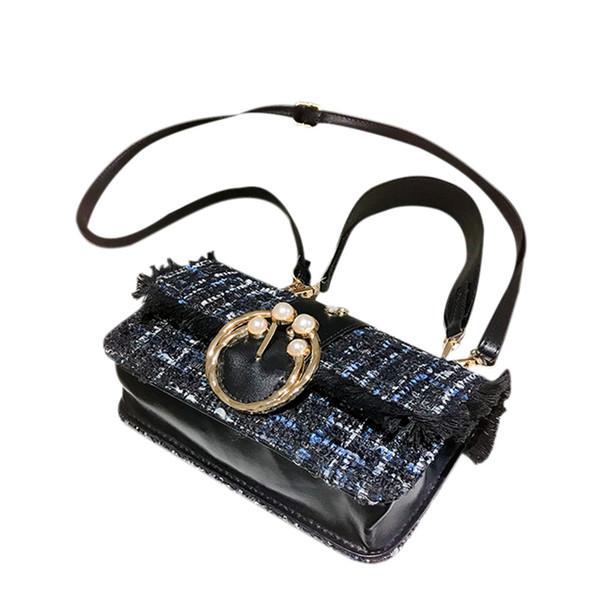 AUAU-Small Fragrance Pearl Bag New Women Handbags Female Bag Lady Temperament Shoulder