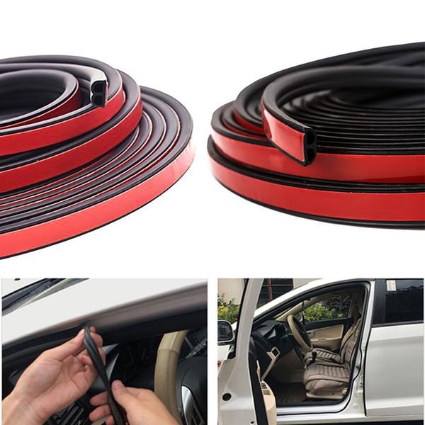 5m Car Door Window Rubber Sealing Strip B-Shaped Interior Moulding Accessories