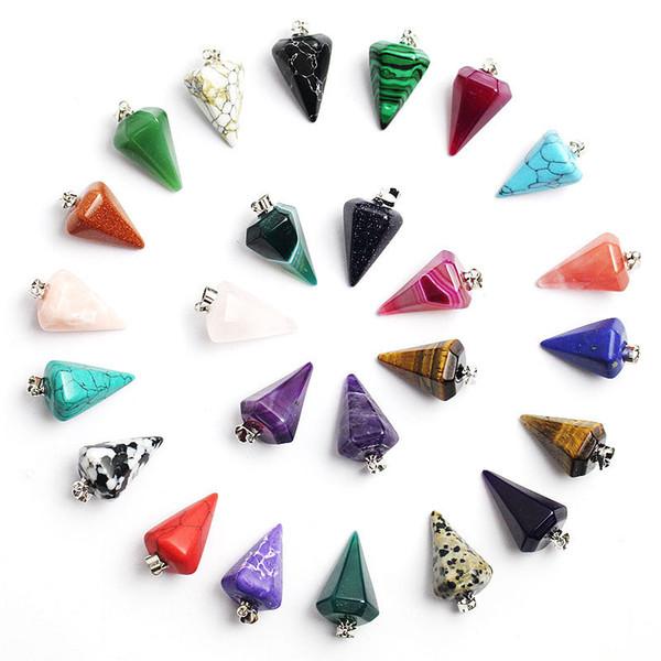2019 Hexagon Pendant Amazon Ebay Pendant Natural Stone Pendant Natural  Crystal Hexagonal Cone Necklace From Jocab, $0 88 | DHgate Com