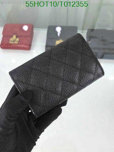 Classico piccolo pacchetto di carte C moda femminile tendenza 1: 1 versione CCC lychee modello carino ragazza borsa modello signora portafoglio lungo portafoglio corto