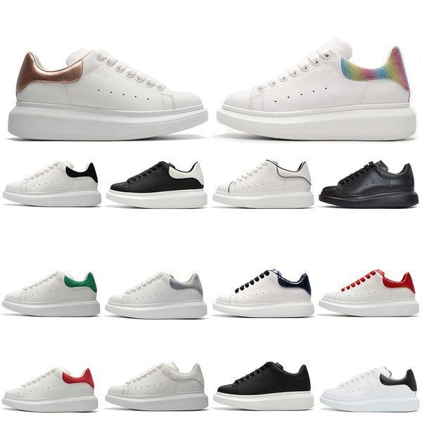 2020 Luxury Designer blanc réfléchissant Vintage Triple Noir Femmes Casual Chaussures de sport d'or arc-en-baskets plate-forme Red entraîneurs des hommes