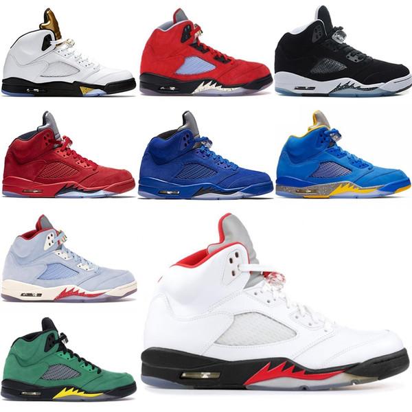 Nike air jordan retro Nouveau 5 5s 11s 12s 13s Mens Basketball Chaussures Bulls Platinum Tint Concord Black Cat Fresh Prince Hommes Sport Chaussures 7-13 BBB0-5
