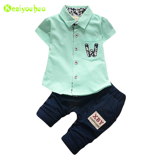 KEAIYOUHUO Children Clothing Summer Baby Boys Clothes T-shirt+Pant 2pcs Kids Tracksuit Sport Suit For Toddler Boys Clothing Sets