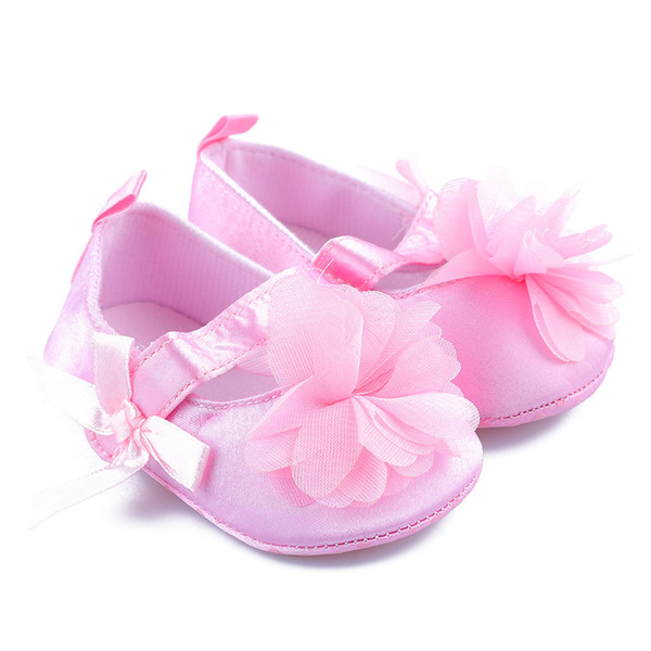 New Cute Flower Spring / Autumn Infant Baby Shoes Newborn Girls Booties for Newborn 3 Color Available 0-18 Months