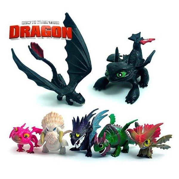 How to Train Your Dragon 1Set 7pcs/set 5~7cm Anime 2 Action Figure Toys Night Fury Toothless Dragon PVC Action Figures Christmas Gifts