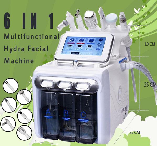 Big Pump! Multifunctional 6in1 Aqua Hydra Facial Water Dermabrasion H2 O2 Oxygen Spray RF Bio Lifting Spa Facial skin deep Clean machine