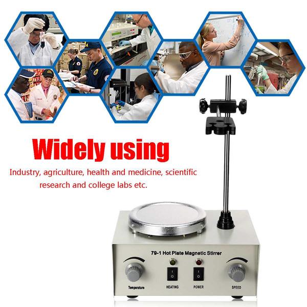 Плита магнитная Лабораторная мешалка отопление 79-1 110/220В 250Вт 1000мл двойной контроль смеситель для США/au/ЕС никакого шума/вибрации предохранители защиты