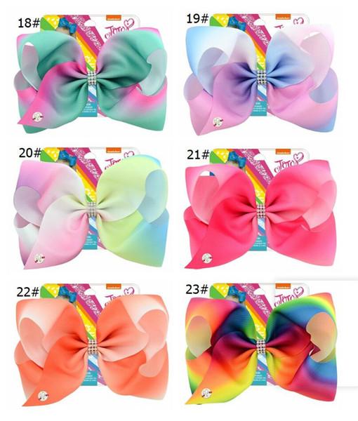 Baby Girls Jojo Hair Clip with Cardboard Cartoon Grosgrain Ribbon Hairclip Barrettes bowknot Hairpins DIY Hair Accessory MMA1491 500pcs