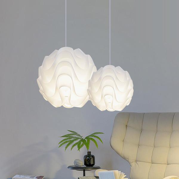 Moderne nordic pendelleuchten pp welle ball hanglamps weiße kugel pendelleuchten küche leuchten innenbeleuchtung luminiare lampe