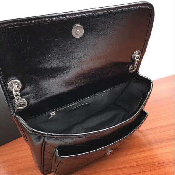 top popular 2020 Famous oily leather Cover Chain Shoulder Straps handbags Women Handbags Lady Letter Shoulder bag Female Evening Bags 2020