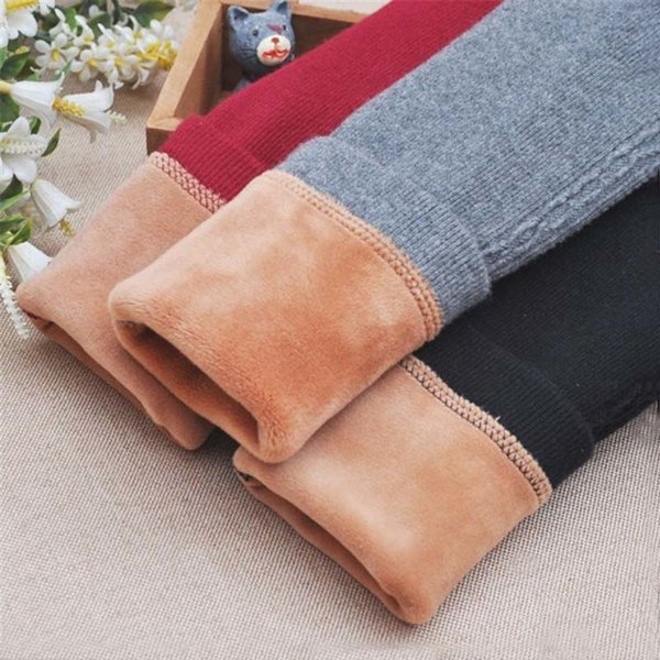 good quality Winter Baby Pants Warm Thick Plus Velvet Toddler Girls Leggings Kids Pants Solid Legging Children Girl Trouser