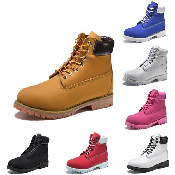 2020 brown luxury designer mens boots women girl sneakers triple black white red pink militar camo desert cowboy leather ladies martin boots thumbnail