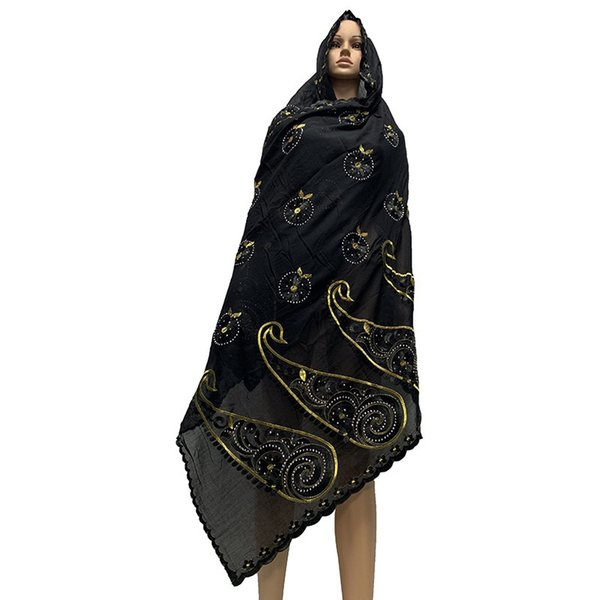 100% Cotton Scarf muslim women embroidery scarfs for shawls pashmina ON SALES BM788