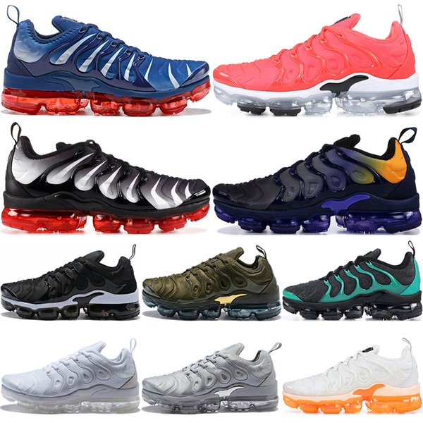 TN Plus Mens Women Running Shoes 2019 Game Royal Orange USA Grape Volt Hyper Violet Bright Crimson Trainers Sports Designer Sneakers 36-45