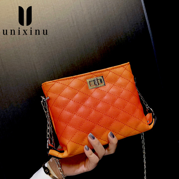 British Fashion Simple Small Square Bag Women's Designer Summer 2020 High-quality PU Leather Chain Mobile Phone Shoulder bags