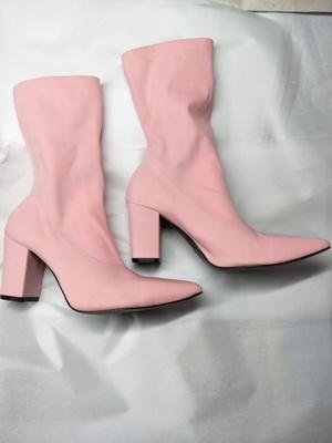 rosa klobige Fersen