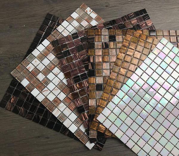 Acquista Tessere Di Mosaico Di Piastrelle Di Marmo Di Linea D Oro