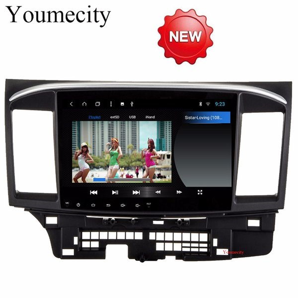 Youmecity Android 8.1 Car DVD for MITSUBISHI LANCER 10.1 inch 2 DIN 3G/4G GPS radio video player with Capacitive 2007-2018 9 x