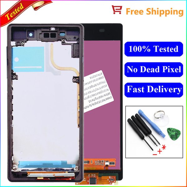 For Sony Xperia Z2 Screen L50W D6502 D6503 LCD Display Digitizer Touch Screen Assembly with Frame For sony z2 d6503 lcd
