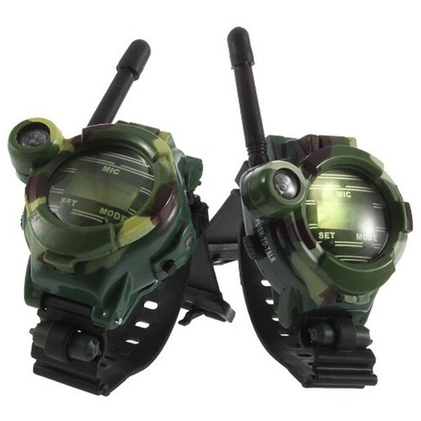 Camouflage Walkie Talkie Toys for Children Multi-functional Wrist Watch Two Way Radios Toy Compass Magnifier Reflector
