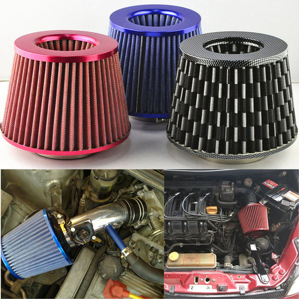 Red KIMISS Car Air Intake Inlet Filter Cleaner Mushroom Foam Gauze High Flow Universal